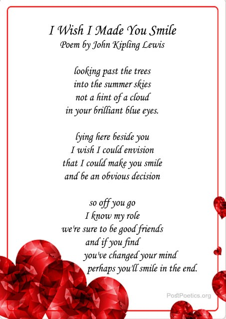 smile poems for her