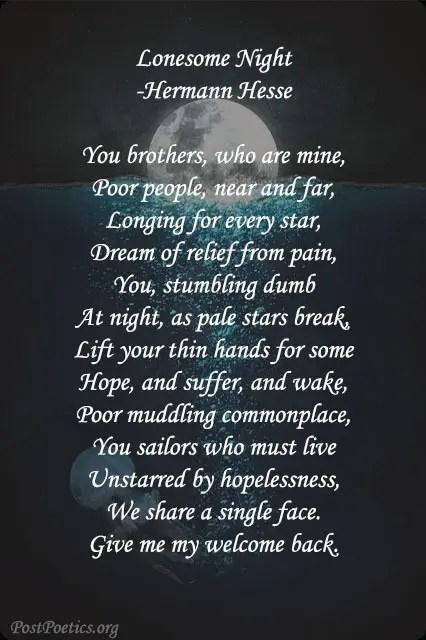 Nighttime poetry