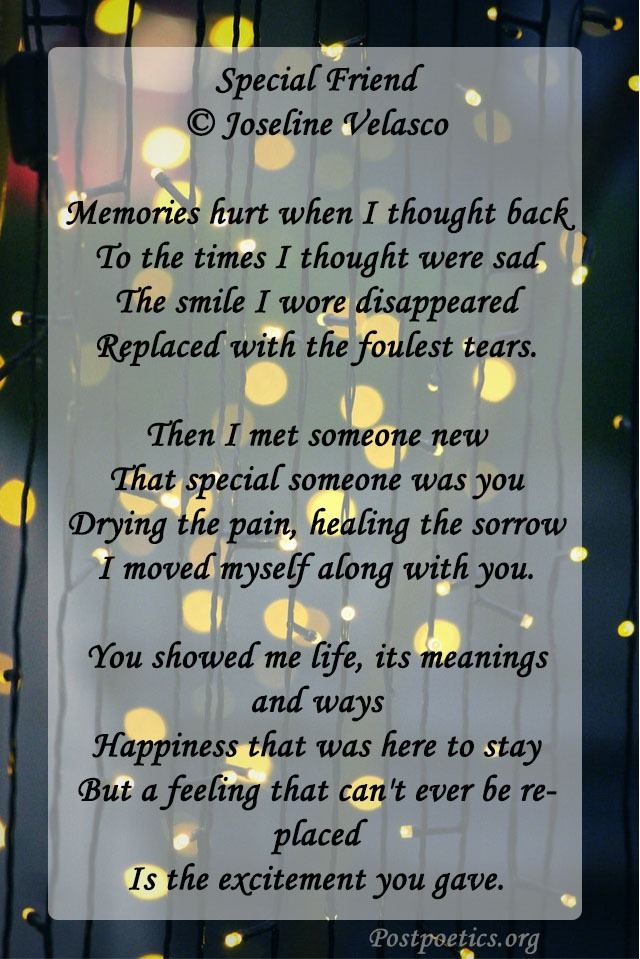 special friend poem