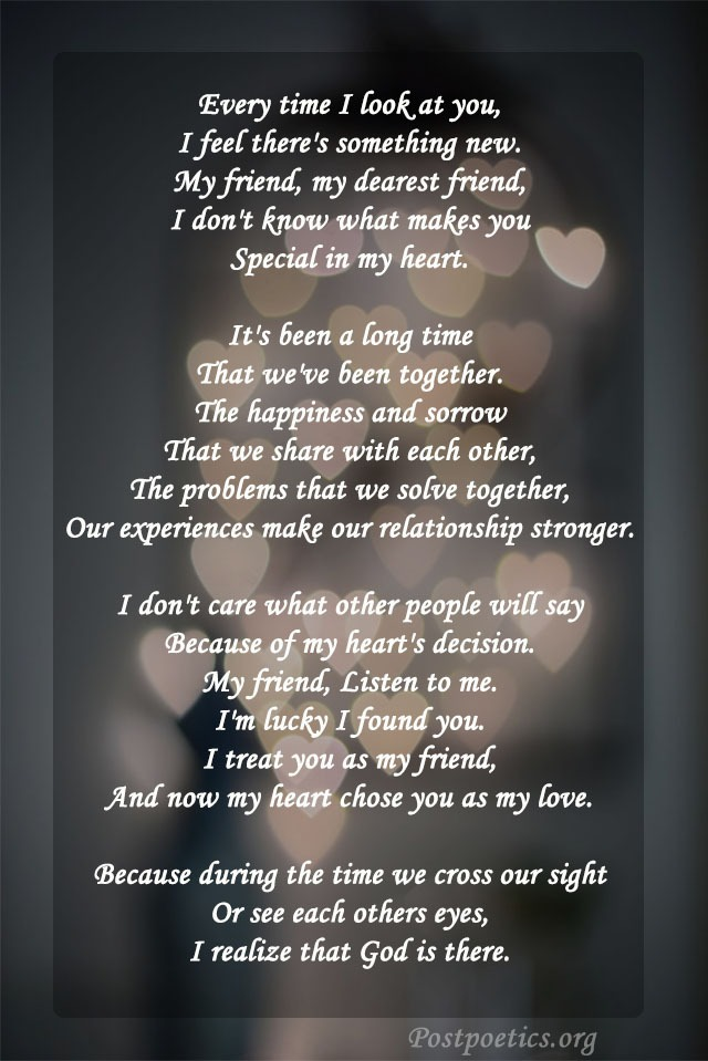 special friendship poems about love