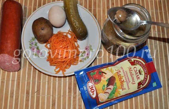 Салат грибная поляна рецепт с фото пошагово с шампиньонами