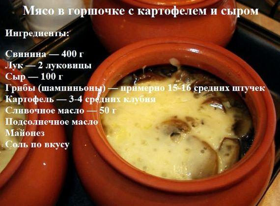 Жаркое из свинины с картошкой в горшочках рецепт с фото в ...