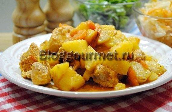 Жаркое в горшочках с курицей и картошкой в духовке рецепт ...