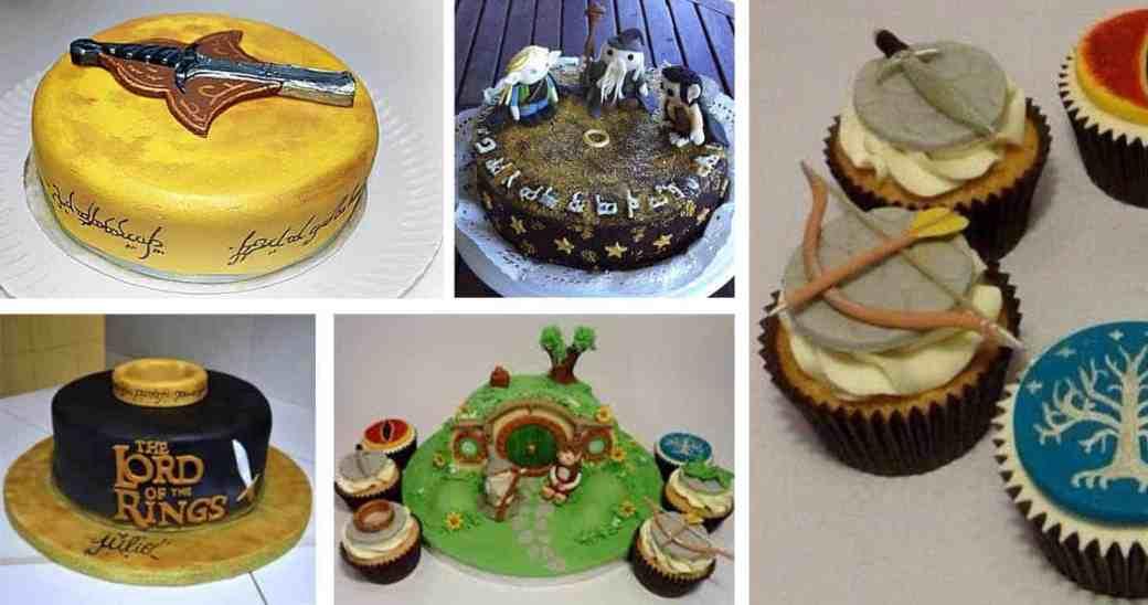 Mesa de dulces o postres del señor de los anillos
