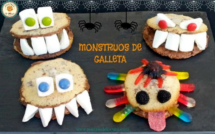 Monstruos de galleta Halloween