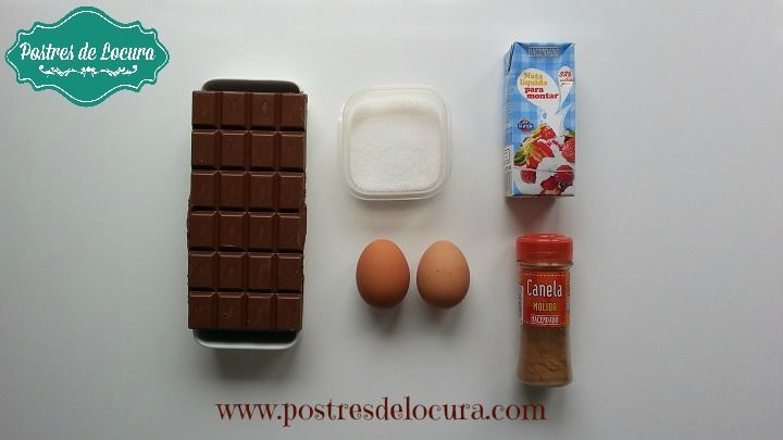 Ingredientes mousse de chocolate