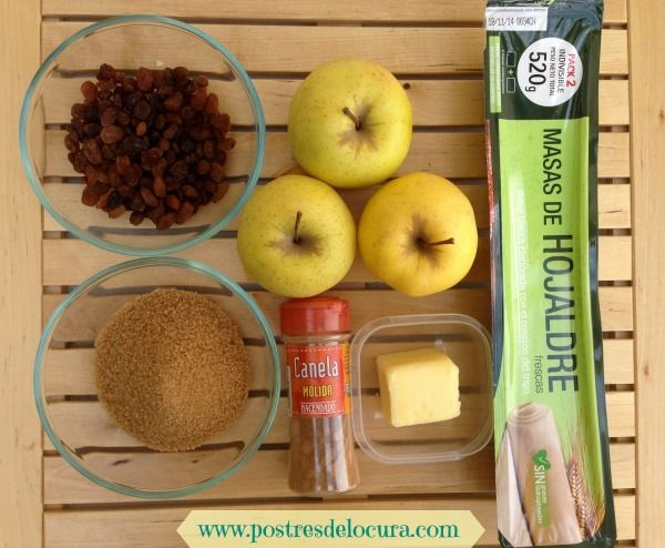 Ingredientes empanada de manzana