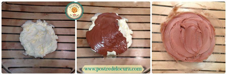 Mezcla de chocolate y mascarpone