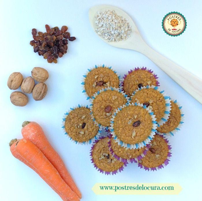 Muffins de avena y zanahoria