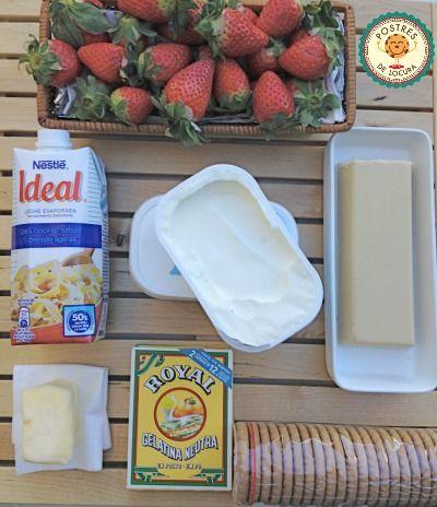Ingredientes tarta de queso y chocolate blanco