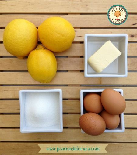 Ingredientes crema de limon casera o lemon curd