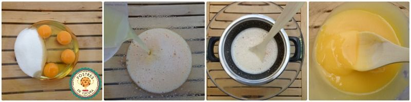 Preparacion crema de limon casera
