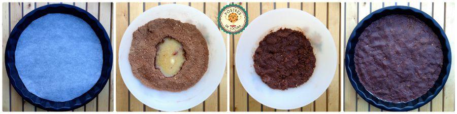 Preparacion base de galleta cheesecake