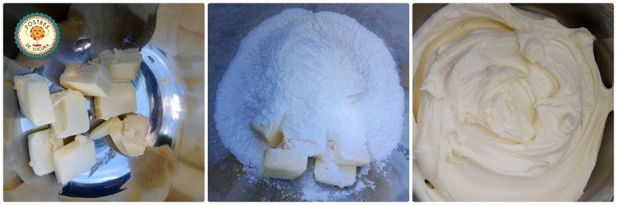 Preparacion frosting queso