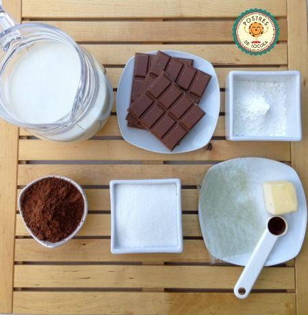 Ingredientes pudin de chocolate casero