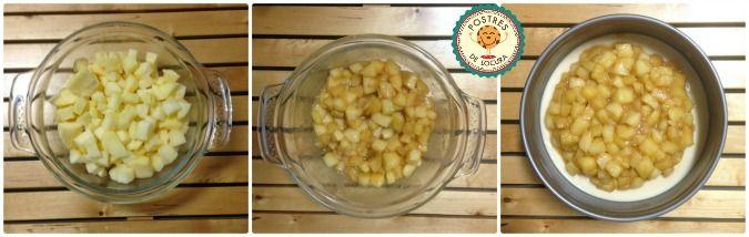 Preparacion relleno de manzana