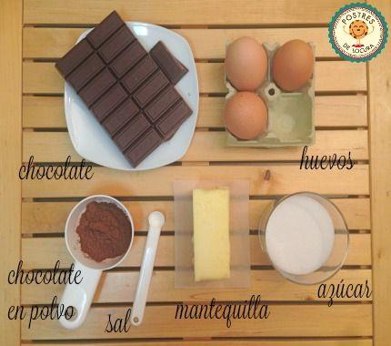 Ingredientes bizcocho chocolate sin harina