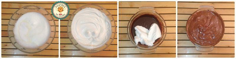 Preparacion bizcocho de chocolate sin harina