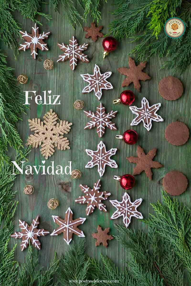 galletas de chocolate para Navidad