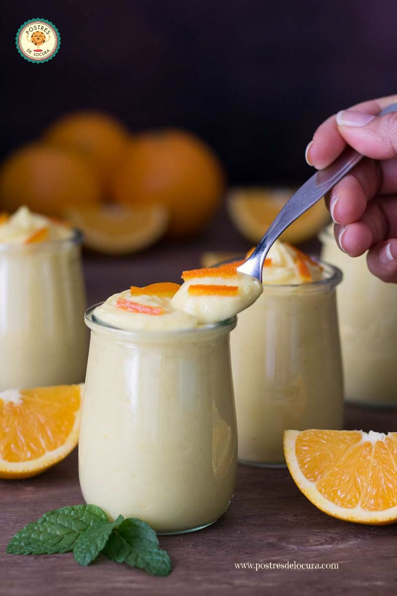 Mousse de naranja y yogur