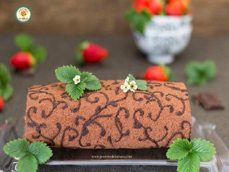 Detalle decoracion rollo de chocolate