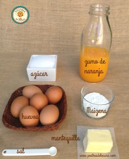 Ingredientes crema de naranja casera orange curd