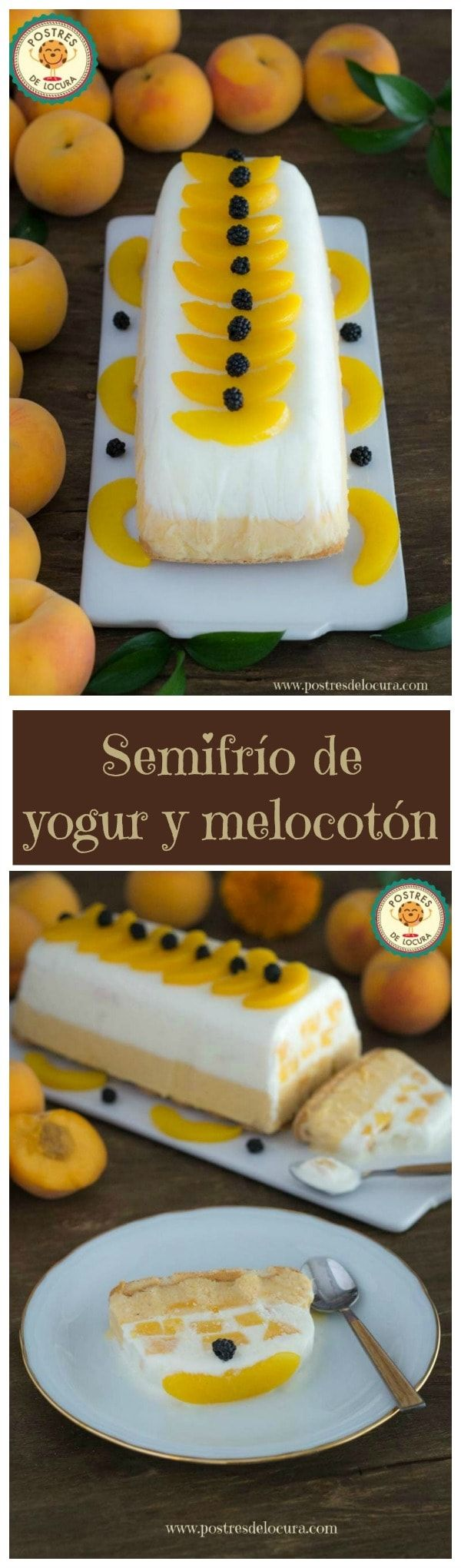 Collage Semifrio de yogur y melocoton