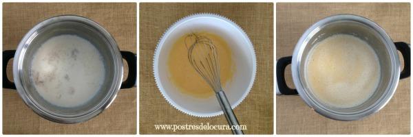 Preparacion crema de vainilla