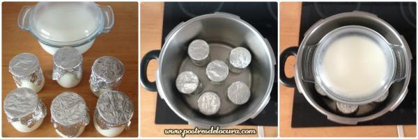 como hacer yogur casero usando la olla expres 2