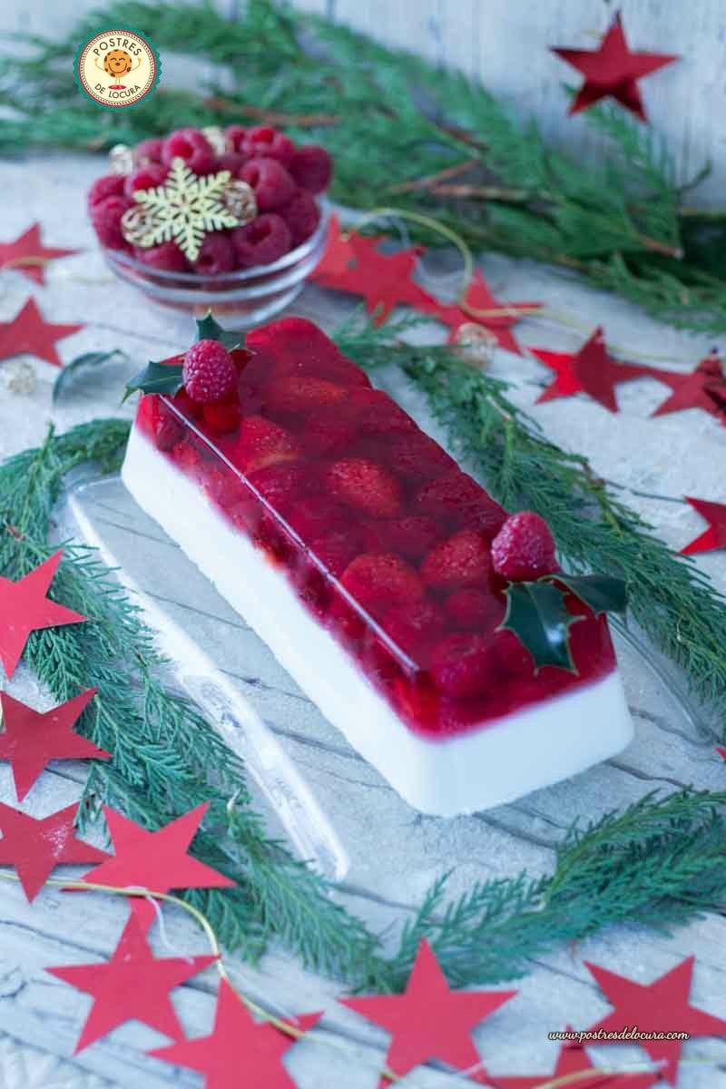 Panna Cotta de coco con gelatina de frutos rojos