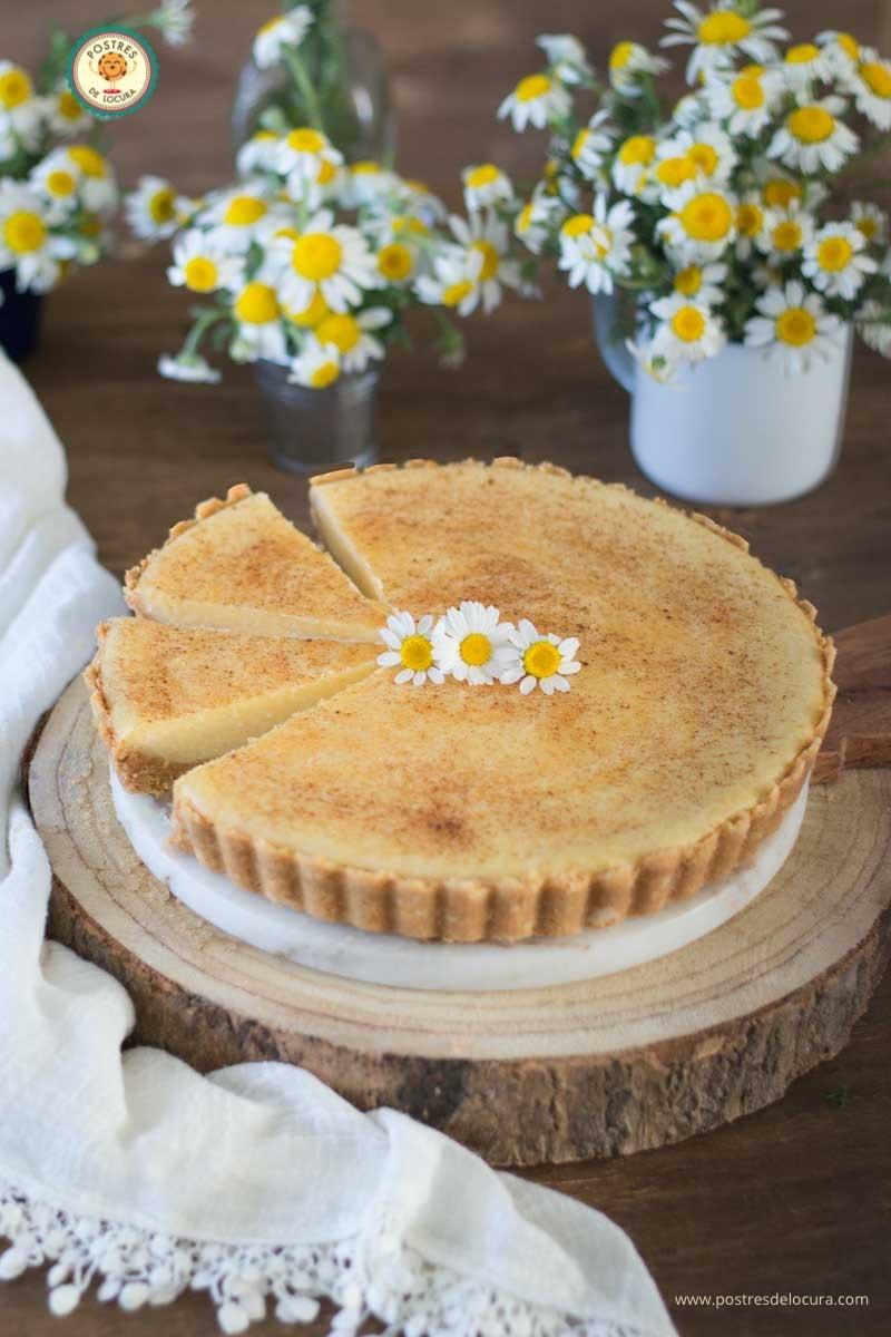 Tarta de crema pastelera al horno