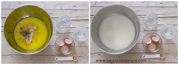 Preparacion pan de leche condensada y fruta 1