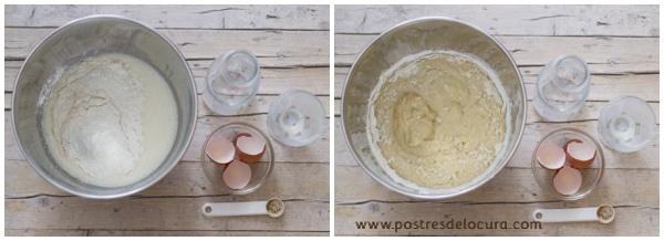 Preparacion pan de leche condensada y fruta 2