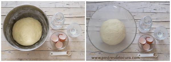 Preparacion pan de leche condensada y fruta 3