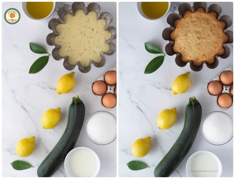 Ingredientes bizcocho de limón y calabacín