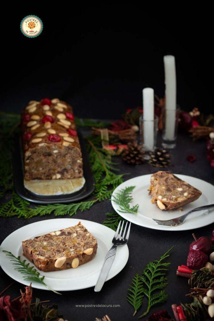 Bizcocho inglés de Navidad de tres ingredientes