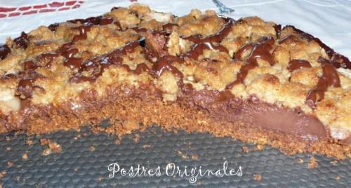 Tarta de chocolate con crumble de pera (B)