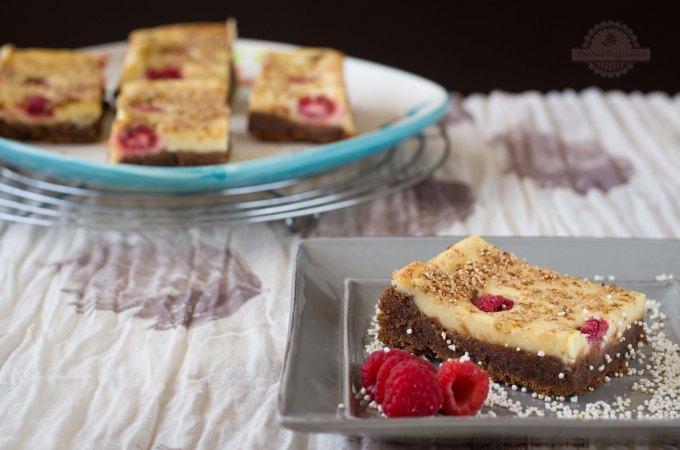 Brownie con Tarta de Queso y Frambuesas