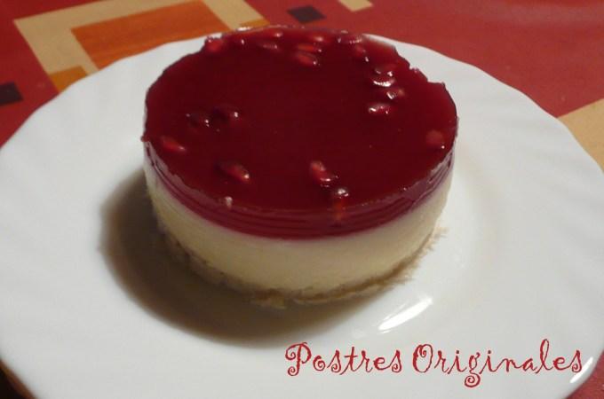 Tarta Fría de Yogur y Granada