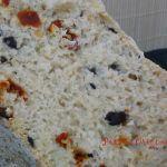 Pan Mediterráneo de Aceitunas Negras, Tomates Secos y Orégano