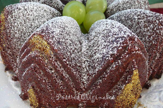 Bizcocho de Vino Tinto o Bundt Cake