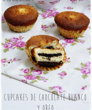 Cupcakes de Brownie de Chocolate Blanco - In my little Kitchen2
