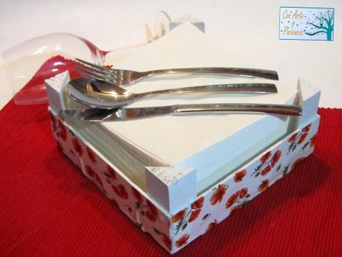 DIY para la Cocina Servilletero con Decoupage