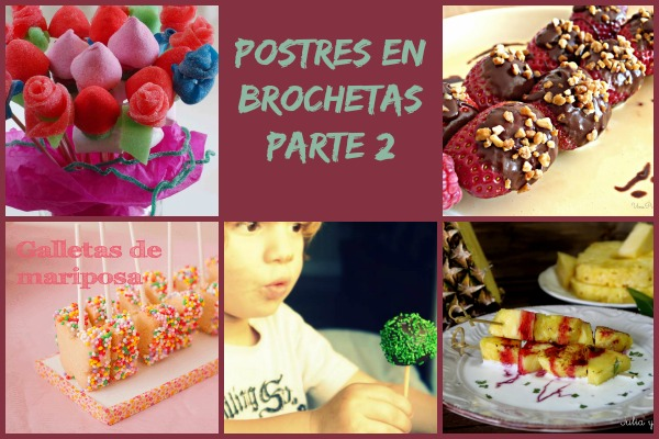 Postres en Borchetas Collage
