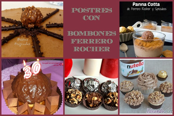 Postres con Ferrero Rocher Collage