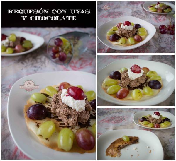 Requesón con Uvas y Chocolate Collage