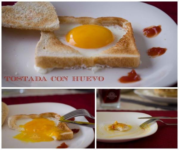 Tostadas con Huevo Collage