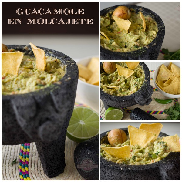 Guacamole en Molcajete Collage
