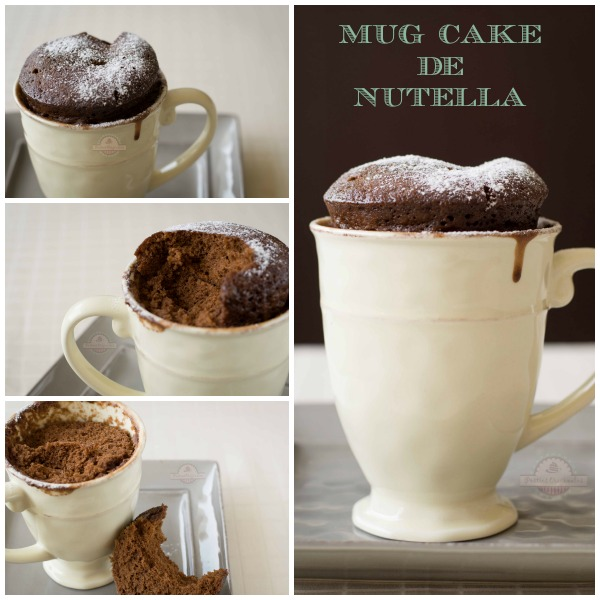 Mug Cake de Nutella Collage