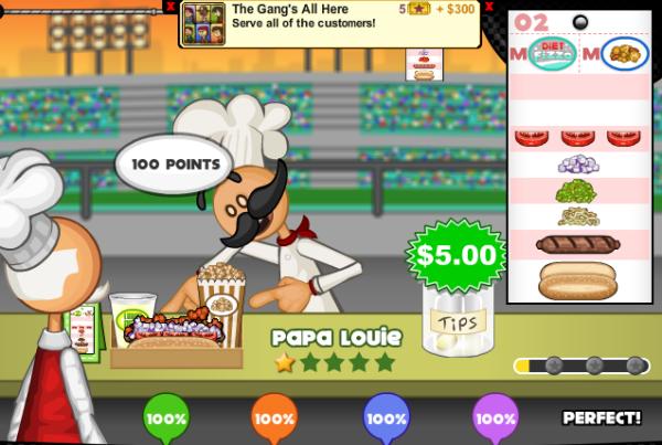 juegos de cocina - Papa_Louie_Perfecto